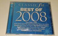CLASSIC FM BEST OF 2008 VOL 2.  Cd.  New & Sealed
