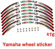 Yamaha Wheel Sticker Red White Green Reflective Motorcycle Rim Tape Stripe x16