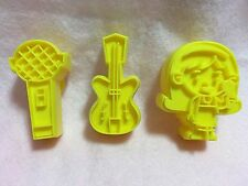 Guitar Music Girls Cookie Cutter Fondant Told Cake Toppers