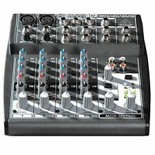 Behringer Mixer Xenyx 802 8 Input 2 Bus Mic Preamp EQ Channel Sound Audio Music