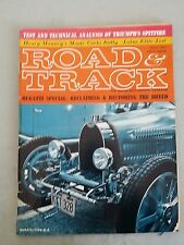 Road & Track Magazine April 1963 Bugatti Section, Triumph Spitfire, Lotus Elite