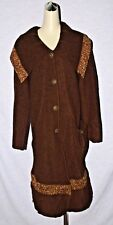 CANNISSE SZ S SMALL BROWN VIRGIN WOOL SWEATER COAT JACKET MOROCCO  EXCELLENT
