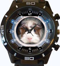 Guinea Pig Lindo Mascota añadir tu propia foto nombre Texto Personalizar Deportes Reloj Unisex