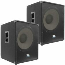 "2 SEISMIC AUDIO 18"" PA POWERED SUBWOOFER Active Speaker"