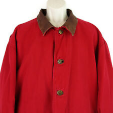 Vintage Marlboro Jacket Size XL Mens Barn Coat Flannel Lined Leather Chore Ranch