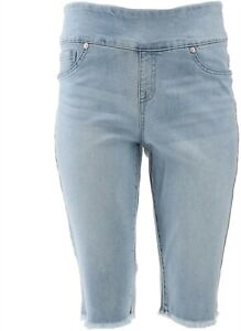 DG2 Diane Gilman Stretch Pull-On Bermuda Short Basic Chambray 2X NEW 697-720