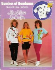 Bunches of Bandanas Kappie Book 248 Fabric Painting Quick & Easy Fashions 1989