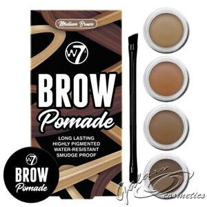 W7 Brow Pomade Eyebrow Definer Shaping Gel Colour Tint Jar & Brush Easy blend