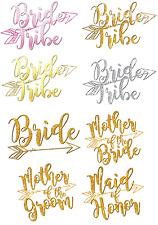 BRIDE TRIBE HEN NIGHT IRON ON TSHIRT FABRIC HEAT TRANSFER WEDDING MARRIAGE LOT