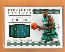 LARRY JOHNSON 2015-16 NATIONAL TREASURES TREASURED THREADS JERSEY /99