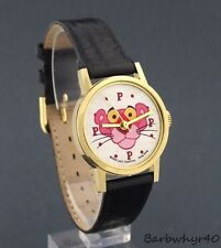 Vintage 1979 wind-up Pink Panther Cartoon Character Watch