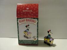 Hallmark Merry Miniatures Disney Minnie Mouse Luggage Car 1998