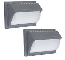 Two Pack Honeywell Outdoor LED Security Wall Light Dusk to Dawn Aluminum Gray