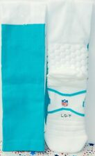 (PACK OF 6) NEW NIKE MIAMI DOLPHINS NFL TEAM ISSUED GREEN GAME SOCKS  Size LG-T