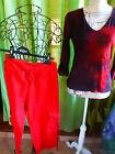 lot=T38-40 2piéces rouges assorties pantacourt et AFFINITéS corsage femme