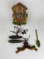 VINTAGE GERMAN HAGOS HRASTREIG K.G. CUCKOO CLOCK FOR PARTS OR REPAIR