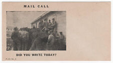 Mail Call World War II Vintage Postcard Unused Clean Did You Write Today