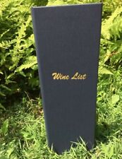 Bis-2V-4.25X14 Wine List Navy Bistro Menu Covers, 25 total covers.