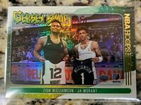 2020-21 NBA Hoops Zion Williamson & Ja Morant Jersey Swap Winter HOLO Insert SP