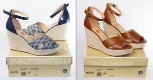 Michael Kors Signature MK LOGO  Eleanora Wedge Sandal Shoes new with box