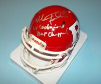 NJ Rutgers Mike Teel Signed Autographed Mini Helmet 2X Captain Keep Choppin COA
