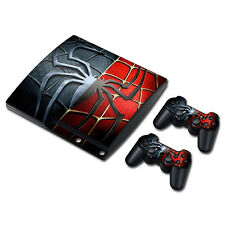 PS3 Slim Playstation 3 Console Skin Decal Sticker SpiderMan Comics Custom Design