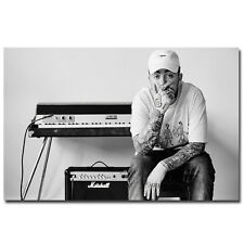 Mac Miller Rapper Hip Hop Music Singer Star Black White Poster HD Printed Canvas