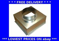 Grille box top entry plenum ventilation extractor fan ducting galvanised steel