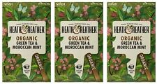 Heath And Heather Organic Green Tea & Moroccan Mint - 20 Bags (Pack of 3)