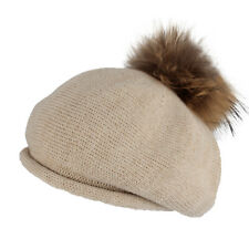 WITHMOONS Winter Women Knitted Wool Beret Hat Pom Pom Cap Crochet Beanie SLF1241