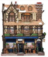 "RARE Lemax Christmas Village "" Westley Street Pub"" Facade Essex Street NIB"