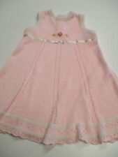 Vintage CLASS CLUB Baby Girl Dress Pink Knit Long Size 18 M Months Sweet!!