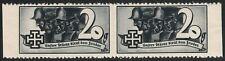 Österreich 1938 Schuschnigg Vignette 20 Groschen Grauschwarz Paar postfrisch DB
