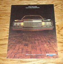 Original 1974 Chevrolet Full Size Car Sales Brochure 74 Chevy Caprice Impala
