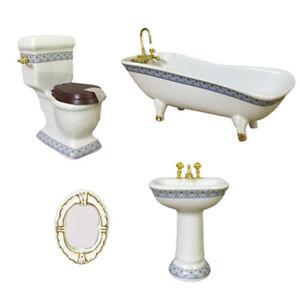 4pieces 1:12 Ensemble de salle de bains miniature maison de poupée - miroir
