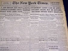 1946 DECEMBER 3 NEW YORK TIMES - GOVERNMENT CLOSES CASE ON LEWIS - NT 3163