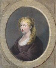 Isabelle Brandt 1ère épouse de Rubens estampe gravée par CLAESSENS en 1834