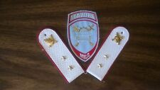 Modern Russia Police summer uniform patch and pair epaulettes of warrant off.