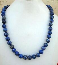 Natural Lapis Lazuli Gemstone Beads Necklace Vintage