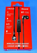 Earphones w Bluetooth for Apple iPhone & Android Samsung Devices (IS150-A) - NEW