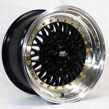 Mst Mt13 15x8 4x1004x1143 Et20 Black Withmachined Lip Wheels Set Of 4