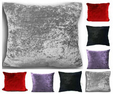 Pack of 4 Plain Luxury Crushed Velvet Cushion Cover 18 inch Covers Only