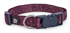Petface Ox Blood Ditsy Spot Dog Collar, Medium