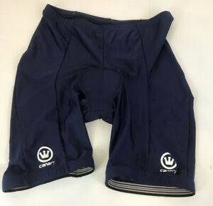 Canari Adult Cycling Short with pad Blue Large 28x7 Light Weight Quick Dry