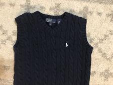 Polo Ralph Lauren Boys Size 7 Boys Sweater Vest Fantastic Navy