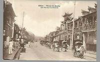 CHINA Kiautschou, Yantai Tsingtau: Street in Shanghai , Jesuiten Karte , RARE