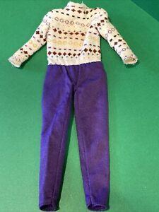 Barbie Jumpsuit 1970s Genuine Mattel. Vintage 💛 Ships fast💛FITS CURVY DOLLS