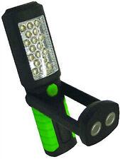 TWIN PACK 21 LED TORCH LIGHT BOAT CARAVAN CAR CAMPER WORKSHOP + angled mag base