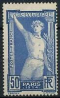 Francia 1924 Yv. 186 Nuovo ** 100% 50 c. Olimpiadi Giochi Olimpici