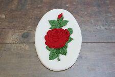 Red Rose Flower Edible Cake Topper Mum Girlfriend Ladies Birthday Anniversary